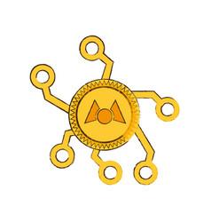 Drawing mastercoin web icon vector