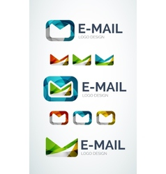 Email logo design made of color pieces vector image vector image