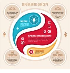 Infographic Concept - Scheme vector image vector image