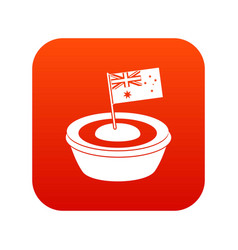 Little flag icon digital red vector