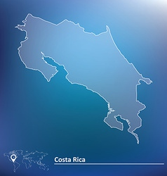 Map of Costa Rica vector image vector image