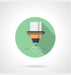 Metal processing laser flat round icon vector