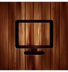 Monitor web icon Computer display vector image