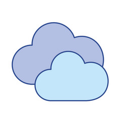 Nice clouds weather of sky vector
