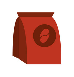 pack of coffe in paper bag vector image