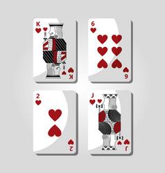 poker cards hearts casino gamling symbol vector image