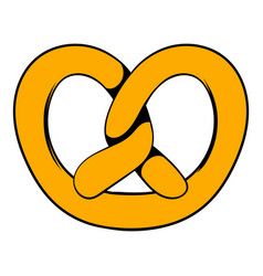 pretzel icon in icon cartoon vector image