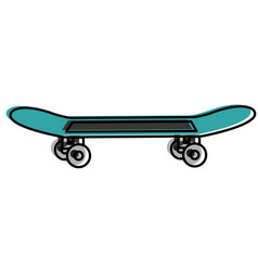 skate board isolated icon vector image vector image
