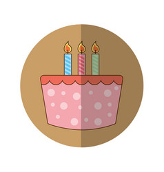 Sweet cake birthday icon vector