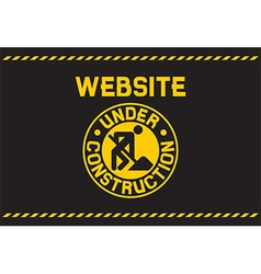 Website under construction poster vector