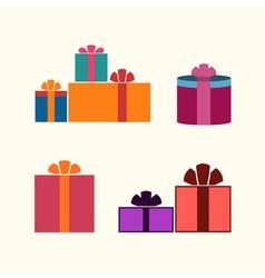 Christmas gifts flat vector