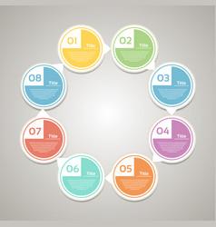 template for diagram graph presentation vector image