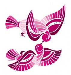 playful birds vector image