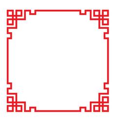 China border frame vector