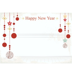 New Year decorations on a card design vector image