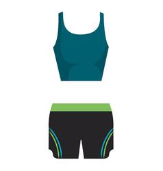 Female gym sport wear vector