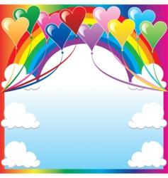 heart balloon background vector image