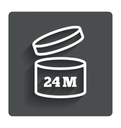 After opening use 24 months sign icon vector