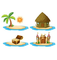Four islands vector image