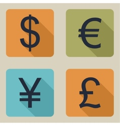 Icons of money vector