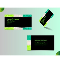 New black business card layout vector