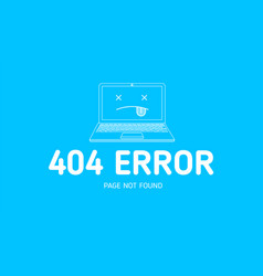 404 error with icon notebook error vector image vector image