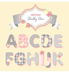 Alphabet shabby chic vector