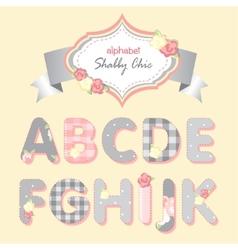 alphabet shabby chic vector image