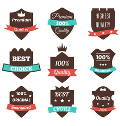 Set of vintage badges Sale premium quality best vector image
