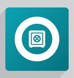 Flat safe icon vector