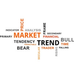 Word cloud market trend vector