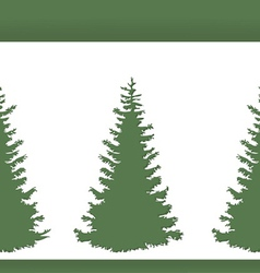 Abstract New Years trees from white paper vector image