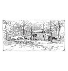 battle of fair oaks vintage vector image vector image