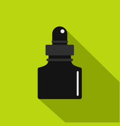 black inkwell icon flat style vector image vector image