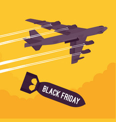 Bomber and black friday bombing vector