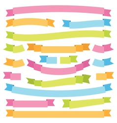 bright ribbons vector image vector image