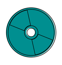 Cd or compact disc icon image vector