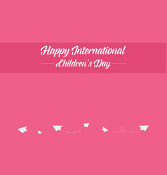 Collection international children day style banner vector