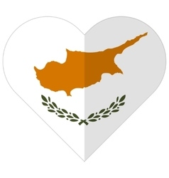 Cyprus flat heart flag vector