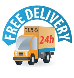 delivery truck3 vector image vector image
