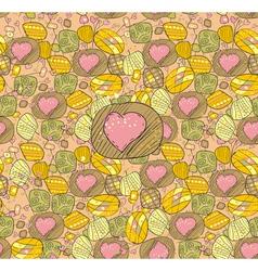 Drawn hearts vector