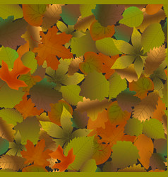 fallen leaves seamless pattern vector image vector image