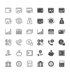 Financial management icons vector image vector image