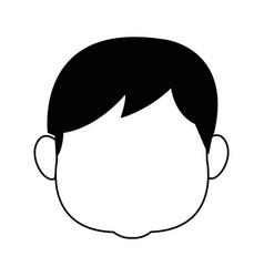 Grandfather avatar face profile character vector