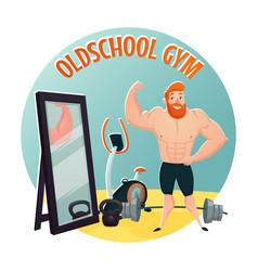 Gym school design concept vector