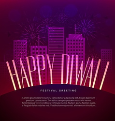 Happy diwali greeting design with space for your vector