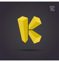 K letter logo template vector