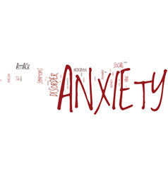 Kw anxiety text background word cloud concept vector