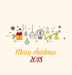 Merry christmas and new year greeting card design vector