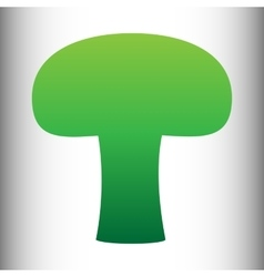 Mushroom simple icon vector